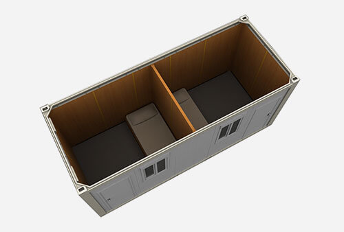 flat-pack-twin-sharing-cabin-shipping-container