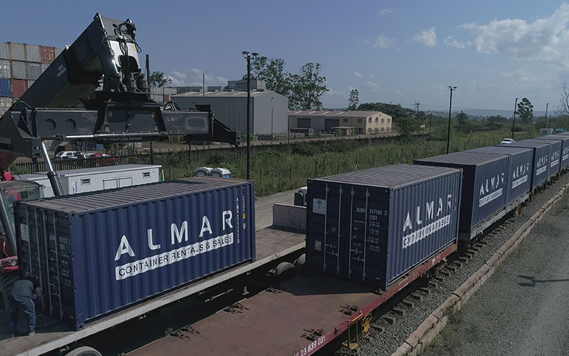 rail revitalisation project: storage containers for rent