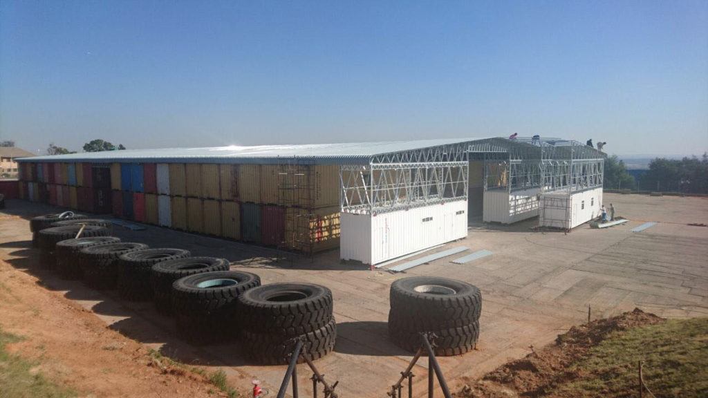 Onsite Storage Container Warehouse Project in Johannesburg Almar