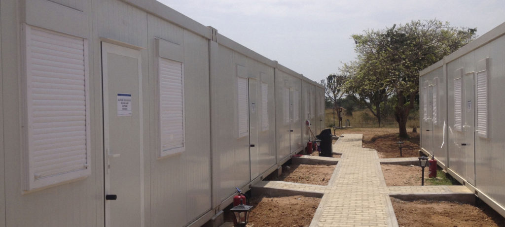 on site container accommodation for sale
