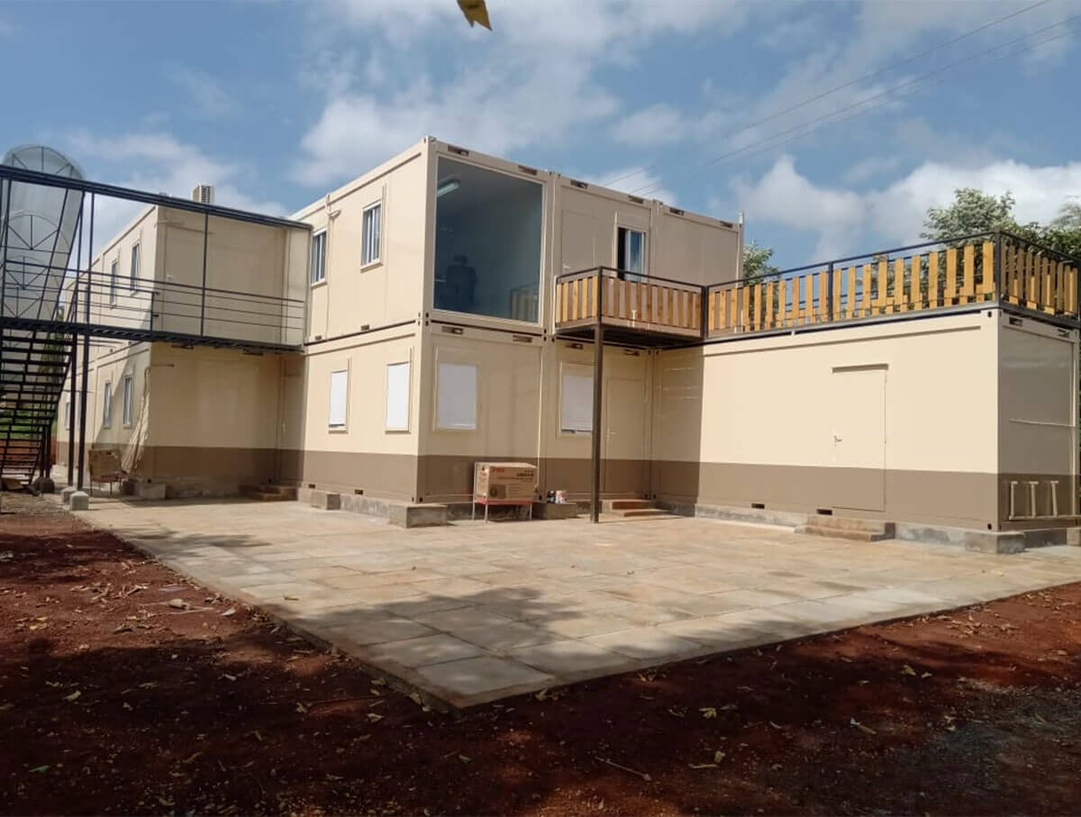 Flat Pack Containers Office Block Rear View - Kenya