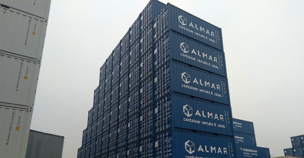 Rebranded Containers Stacked